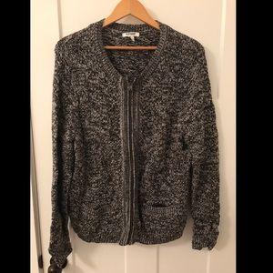 Old Navy Metallic Tweed Zip Sweater w/ Pockets 3x